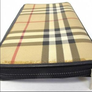Authentic Burberry London Coated Canvas Wallet